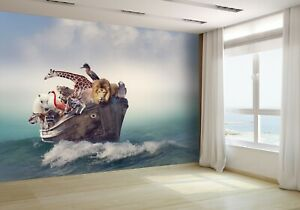 Wild-Animals-and-Birds-in-an-BoaT-Wallpaper-Mural-Photo-43841525-budget-paper