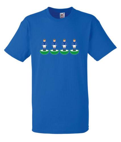 Subbuteo retour quatre Peterborough T-shirt Bleu Toutes Les Tailles