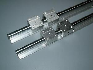 SBR12-150mm LINEAR SLIDE GUIDE 12MM SHAFT 2 RAIL+4 SBR12UU BEARING BLOCK CNC set