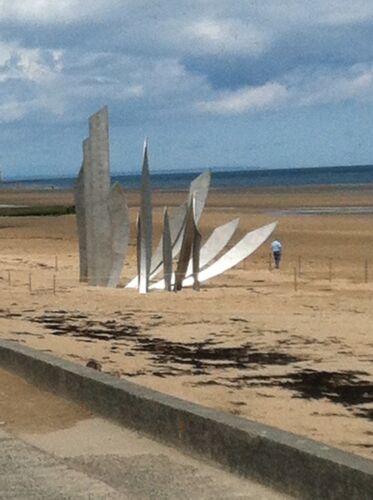 "/""Sacred Sand/"" 57X27 mm Commemorative Sample /""Omaha Beach/"" Normandy"