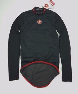 Castelli-Feroce-Windproof-Men-039-s-Winter-Cycling-Baselayer-Black-Extra-Small