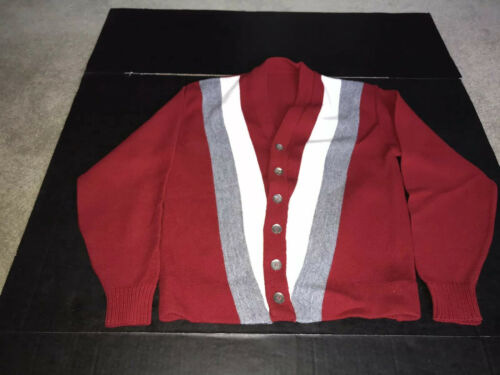 Campus Chevron Vintage Cardigan Sweater Rare