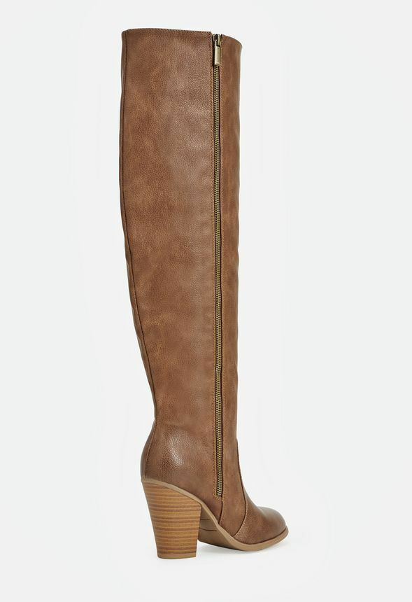 8.5 Knee High 22 Inch Shaft, Very Comfortable And And And Trendy Brown Boots NIB, NICE bb1fd1
