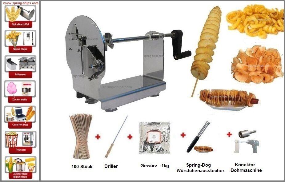 Professionnel de pommes de terre Schneider Starterset pomme de terre Spiralschneider pomme de terre Spiral