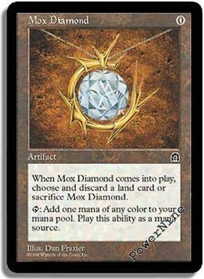 1 PLAYED Mox Diamond Artifact Stronghold Mtg Magic Rare 1x x1