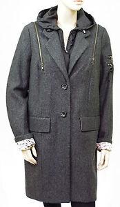 Manteau-lainage-I-CODE-par-IKKS-gris-chine-femme-capuche-taille-44