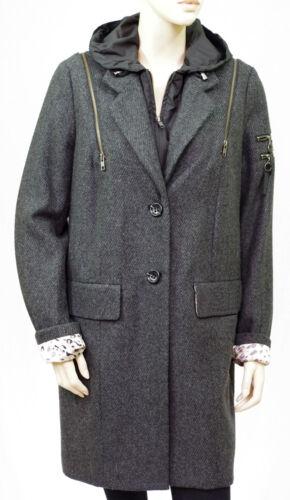con Coat code 44 Lainage By Taglia Woman Grigio Heather Ikks I cappuccio wHUp1