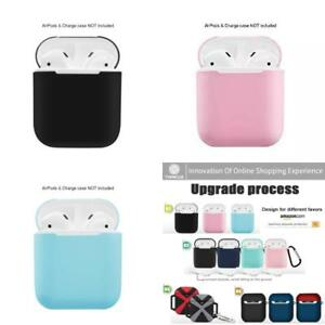new style d688a 198a6 Details about Silicone Charging Case Cover Fit For Apple Airpods Air Pod  Earpods Accessories