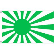 Japan Rising Sun (Green) Flag 5Ft X 3Ft Japanese Tokyo Banner With 2 Eyelets New