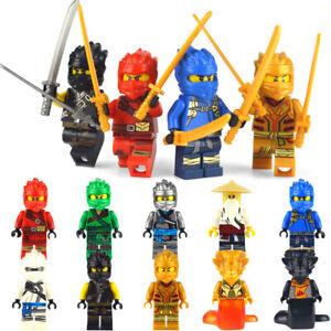 Lot-pack-de-10-Ninjago-type-Lego-etat-neuf-nouveaux-modeles-2020