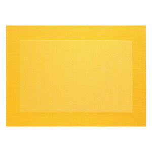 ASA-Selection-PVC-Tischset-mit-Gewebtem-Rand-Platzdeckchen-Platzset-PVC-Gelb