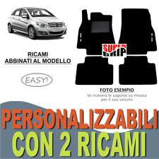 PER MERCEDES CLASSE B W245 TAPPETI AUTO MOQUETTE E FONDO GOMMA + 2 RICAMI EASY