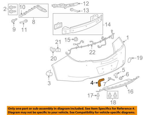 Buick GM OEM 11-17 Regal Rear Bumper-Lower Bracket Right 13256843