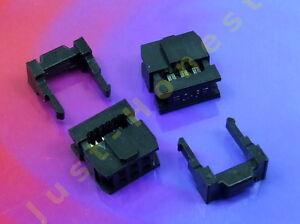 2 Stk x IDC 2.54mm Stecker Flachbandkabel 6 polig #A567