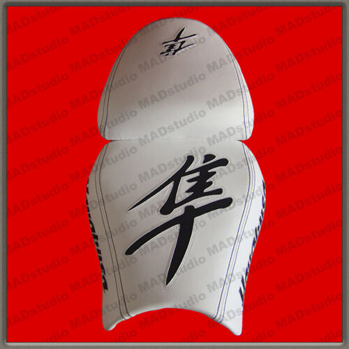 Design Seat Cover Suzuki Hayabusa 99-07 HAND-MADE white+black 001/_1