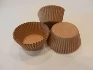 48 Brown Craft Kraft Paper Standard Size Cupcake Liners Baking Cups