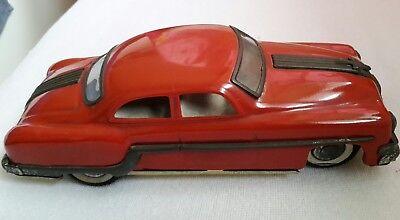 Amar - Indien - Minister Deluxe - Blech Auto Ca. 25cm 1950 Rot Pontiac