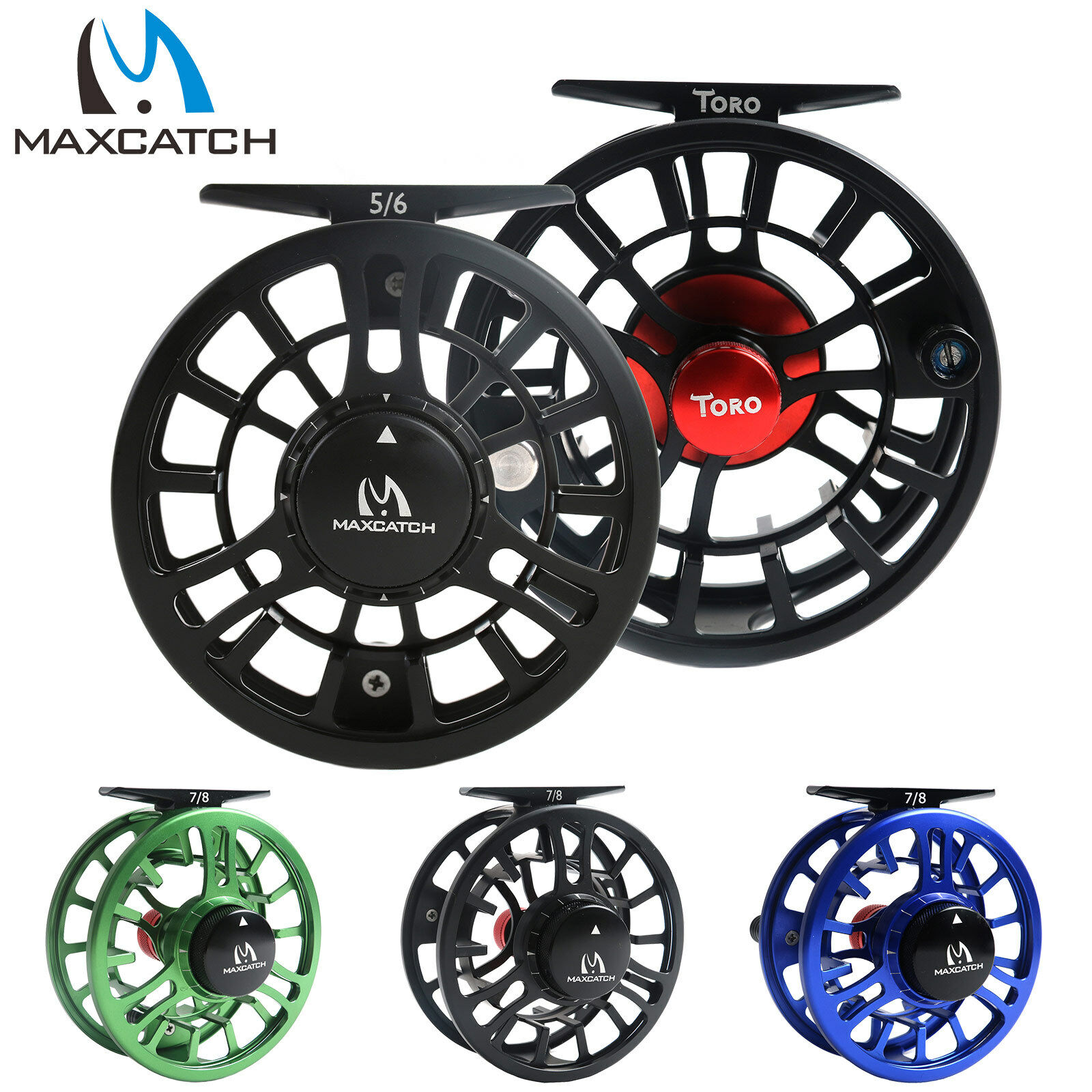 3-4 5-6 7-8WT CNC Usiné Alliage d'aluminium corps large arbor Fishing Fly Reel