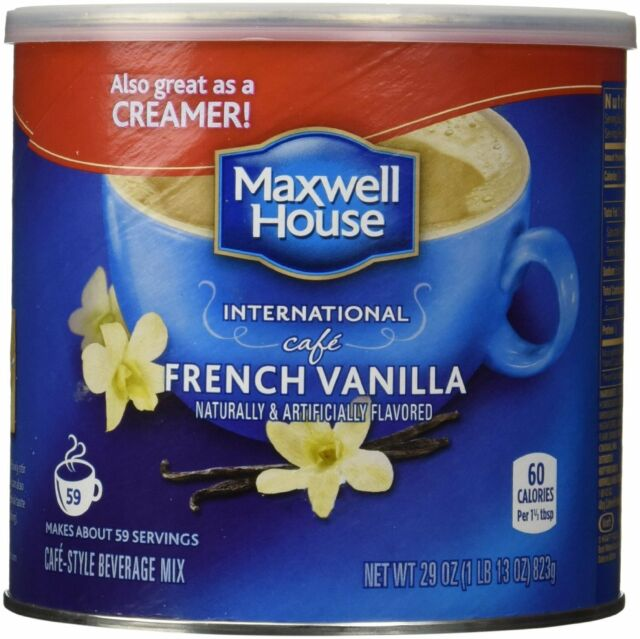 1 Maxwell House International Cafe French Vanilla 29oz Can   FREE SHIPPING!