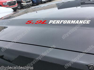 Hood vinyl sticker decals Ram 2500 3500 f250 F350 Decal pair 6.7L PERFORMANCE