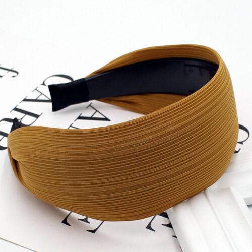 Mode Frauen-Dame Mädchen Breit Haarreifen Kopfbedeckung Haarbänder Boutique