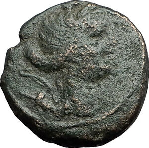 AMPHIPOLIS-in-MACEDONIA-1stCenBC-RARE-R1-Ancient-Greek-Coin-ARTEMIS-BULL-i59747