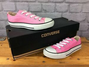 CONVERSE-ALL-STAR-YOUTH-PINK-CANVAS-LO-OXFORD-TRAINERS-VARIOUS-SIZES-GIRLS