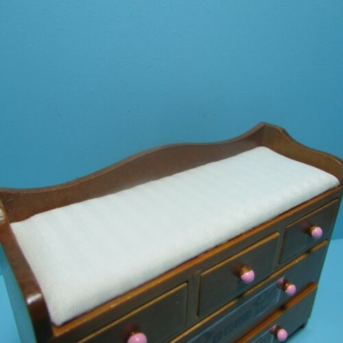 Dollhouse Miniature Wood Walnut Nursery ABC Changing Table with Drawers T6117