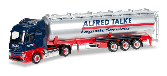 HERPA 305716 - MERCEDES BENZ ACTROS LIGHTEN UP WITH SILO  ALFRED TALKE  - 1 87