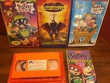 Lot of 5 VHS Movies- Rugrats & Wild Thornberrys-