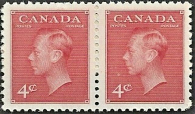 Canada  # 287 Pair  King George VI  Postes - Postage    New 1949 Issue