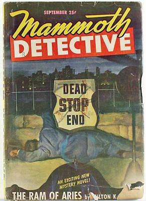 Mammoth Detective Pulp Magazine September 1947 Vol. 6 No. 9 Milton K. Ozaki