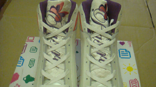 Comfort Leather//fabric Womens Peach Creme Pastry Brulee Hi trainers size UK 5