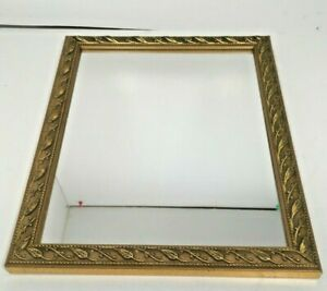FRAMED-MIRROR-IN-wood-GOLD-GILT-Look-amp-GESSO-HANGING-11-1-4-034-by-9-1-4