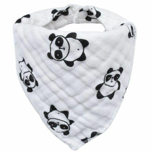 Baby Bibs Boy Girl Bandana Water Absorb Burp Cloth Triangle Cotton Scarf Print