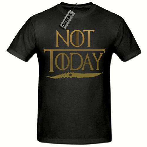 Gold Slogan Arya Stark T Shirt Not Today T Shirt Game Of Thrones T Shirt,
