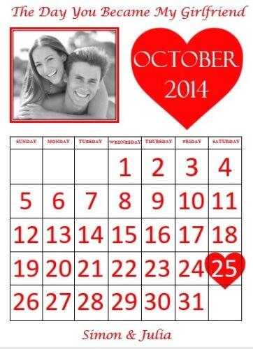SAINT VALENTIN idée cadeau Le jour où nous avons rencontré calendrier copain copine femme etc