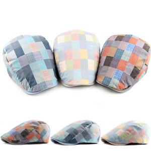01506f6f16d Mens Plaids Duckbill Newsboy Gatsby Hat Cap Golf Driving Cabbie ...