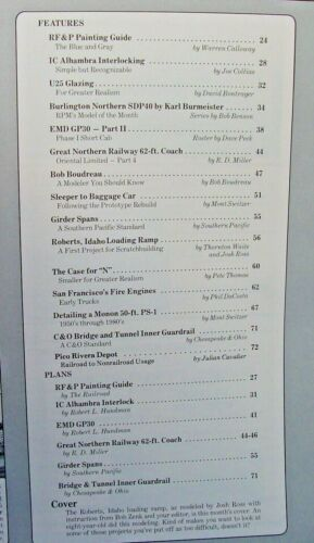 HO,S,N,O SCALE MAINLINE MODELER MAGAZINE JUNE 1989 TABLE OF CONTENTS PICTURED
