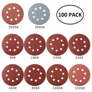 100x-disques-de-poncage-125mm-auto-adhesives-Ponceuse-orbitale-a-grains-80-3000