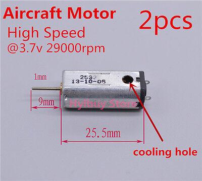 2pcs N50 Mini Micro high-speed Motor Aircraft 1mm shaft DC 3.7V 29000RPM