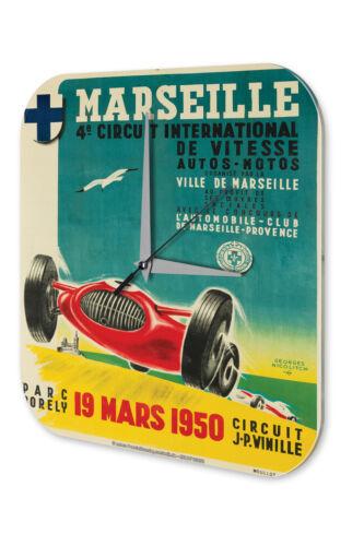 Wanduhr Fernweh Stadt  Marseille Acryl Dekouhr Vintage