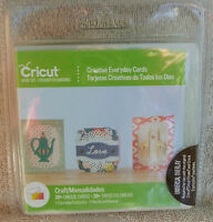 Cricut Creative Everday Cards Cartridge Thank You Get Well Love Welcome Baby Craft Supplies