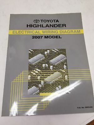 2007 toyota highlander oem factory electrical wiring diagram book  ebay