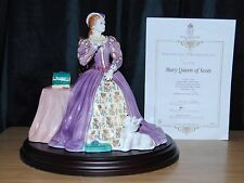 Royal Worcester Mary Queen Of Scots Limited Edition Figurine With Coa