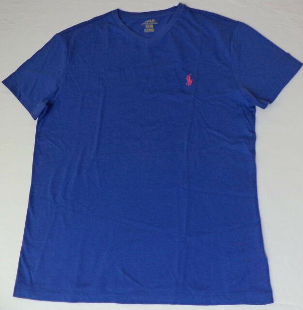 Size Sleeve V Mens T M Polo Bluepink Ralph Shirt Lauren Short Neck Pony w8ymN0Ovn