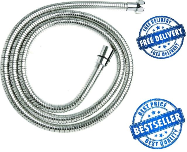 2.5M DURAHOSE Chrome Stainless Steel Shower Hose Triton Mira Grohe Replacement