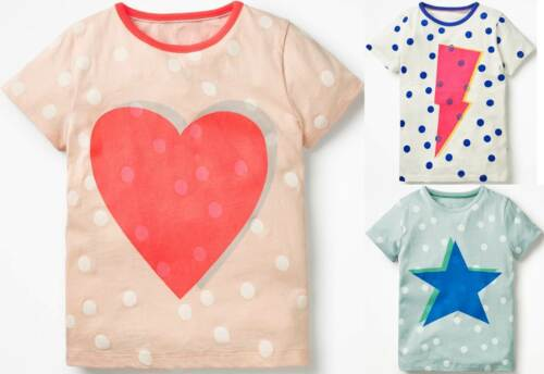 Mini Boden Colour Pop Neon spotty logo t-shirt summer top short sleeve girls