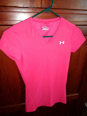 Pink Womens Under Armour Heat Gear S/S Medium  NWOT Stretchy