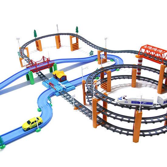 hasta 42% de descuento Tren Eléctrico conjunto Para Niños Niños Niños 3ª planta Rolling Rail Vialidad Deluxe Escala 182pcs  muy popular